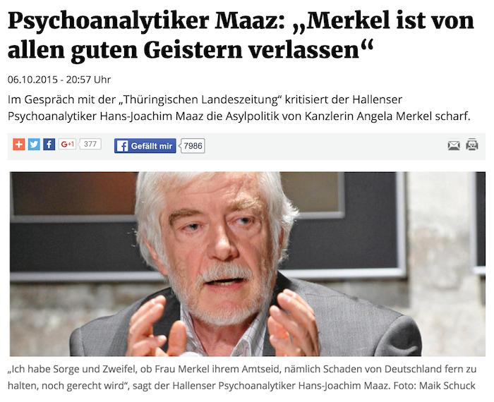 Maaz über Merkel
