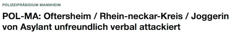 Polizeimeldung Mannheim