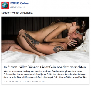 Facebook x betygsatt kondom