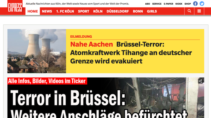 Screenshot: express.de