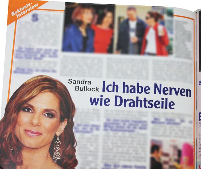 """Angebliches Interview mit Sandra Bullock in """"Freizeitwoche"""""""