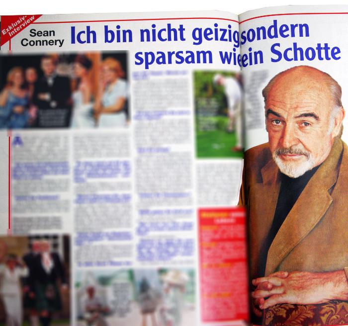 """Angeblich Interview mit Sean Connery in """"Freizeitwoche"""""""