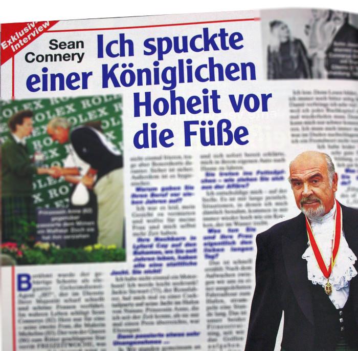 """Angebliches Interview mit Sean Connery in """"Freizeitwoche"""""""