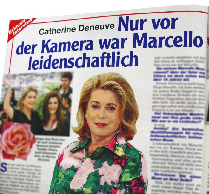 """Angebliches Interview mit Catherine Deneuve in """"Freizeitwoche"""""""