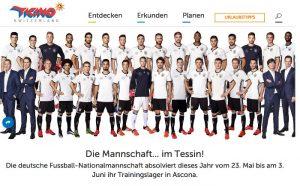 Werbepartner: der DFB und die Tourismusagentur Tessin