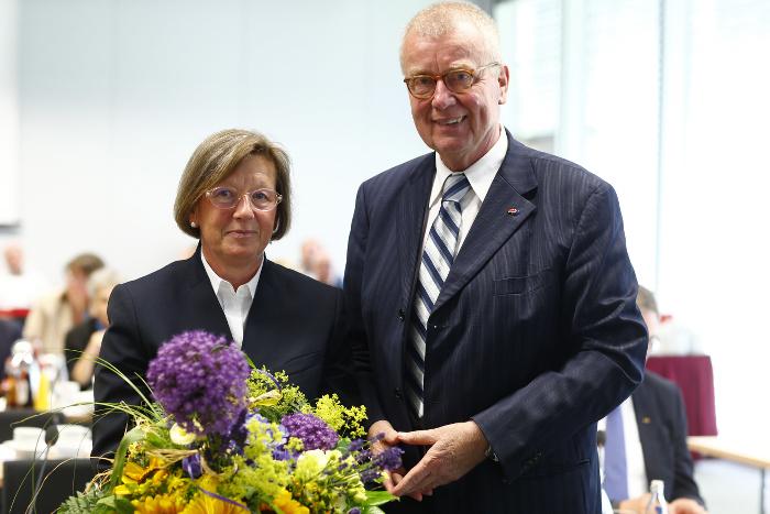 Marlehn Thieme und ihr Vorgänger Ruprecht Polenz