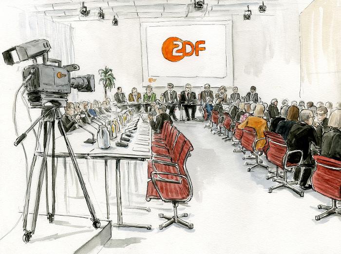 Keine Fotos von der Sitzung: Der Fernsehrat tagt