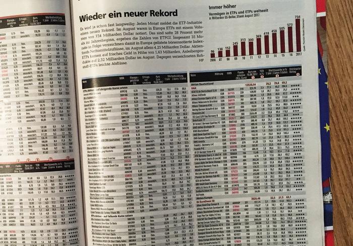 """Eine Seite voller Tabellen und Zahlen. Überschrift: """"Wieder ein neuer Rekord""""."""