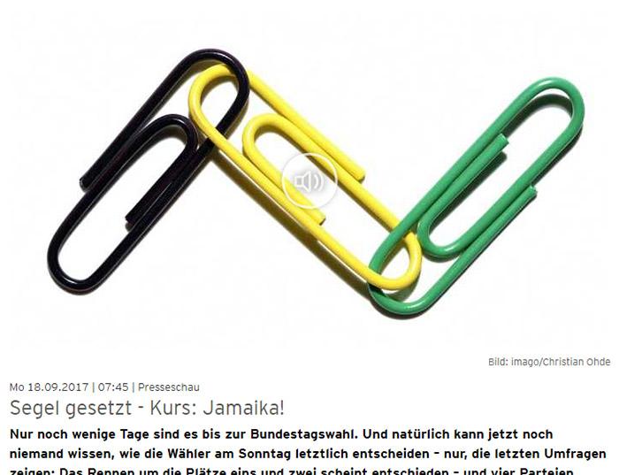 Schwarze, gelbe und grüne Büroklammern