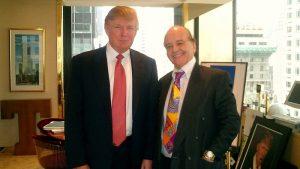 Jörg Bobsin (rechts) im Jahr 2005 mit Donald Trump