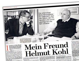 """Nachruf auf Helmut Kohl von Ex-""""Bild""""-Herausgeber Kai Diekmann, Überschrift: """"Mein Freund Helmut Kohl"""""""