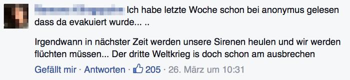 Kommentar einer Facebook-Userin