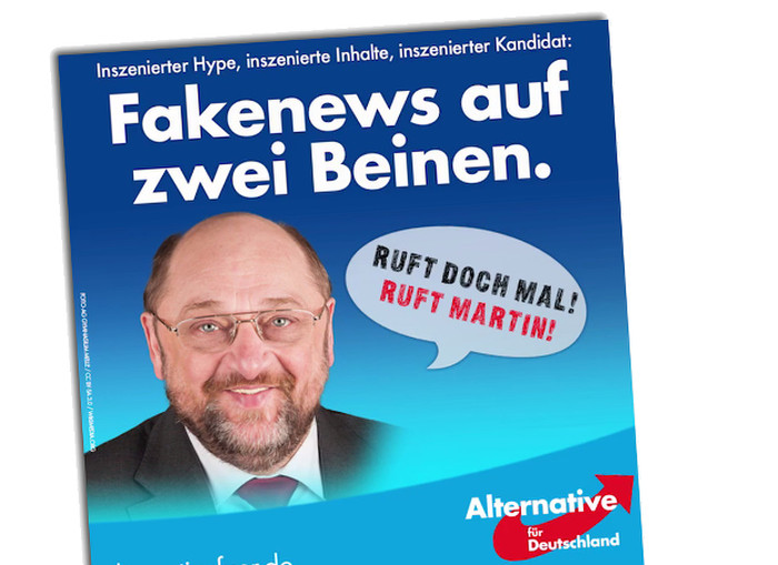 AfD-Posting mit manipuliertem Foto von Martin Schulz