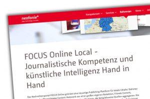 """Neofonie-Werbung für """"Focus Online"""""""