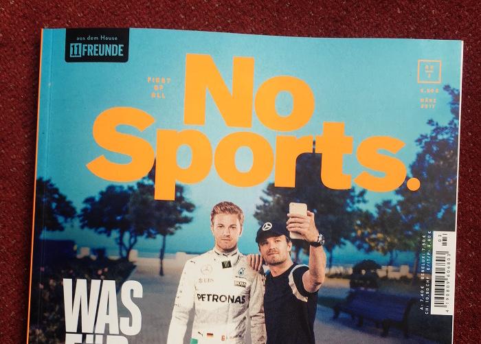 """Titelseite des Magazins """"No Sports"""""""