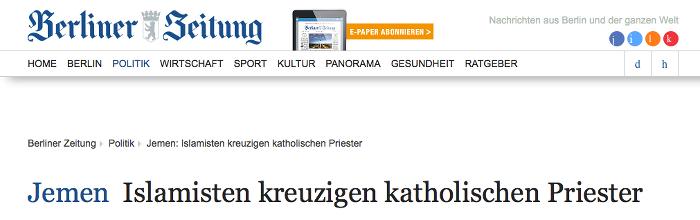 """Screenshot: """"Berliner Zeitung"""""""