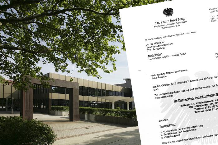 Einladung zum Freundeskreis in der ZDF-Konferenzzone