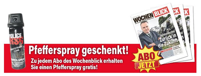 Gefährliche Abo-Prämie: Pfefferspray für alle!