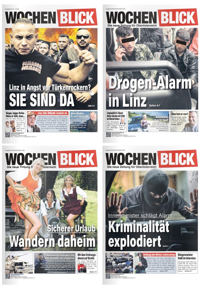 """Die ersten """"Wochenblick""""-Titelseiten"""