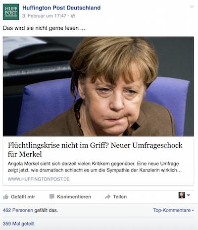 """Screenshot """"facebook.com/huffingtonpostde"""""""