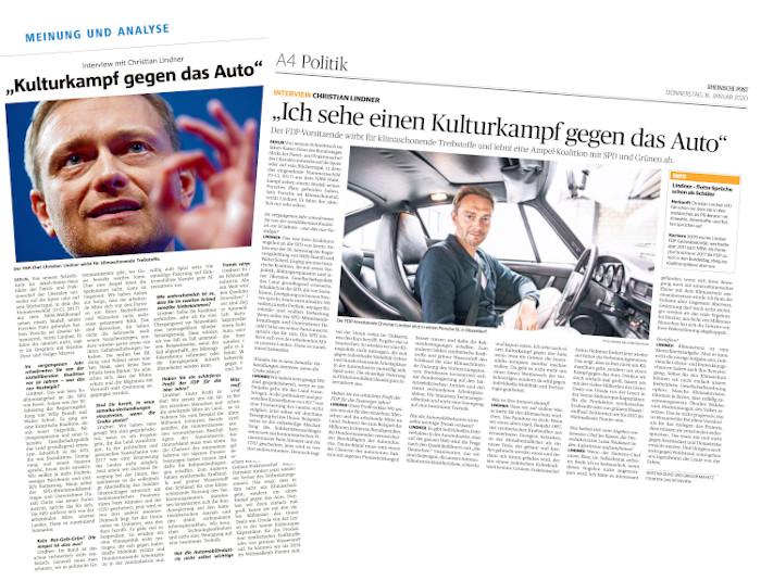 """Interview mit FDP-Chef Christian Lindner in der """"Münsterschen Zeitung"""" und der """"Rheinischen Post"""""""