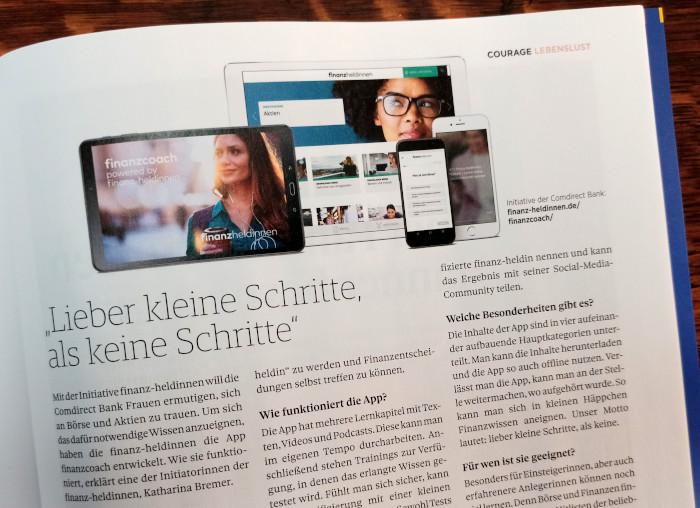 Im Magazin Courage wird eine App vorgstellt
