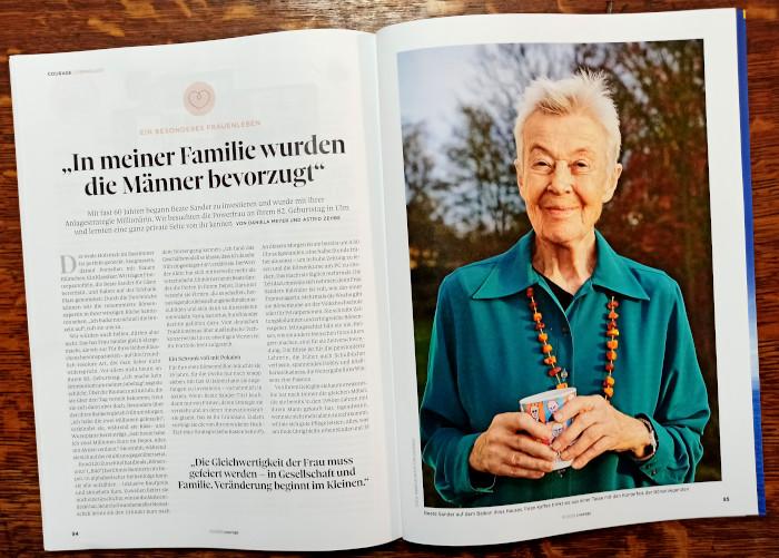 Geschichte im Magazin Courage über Beate Sander