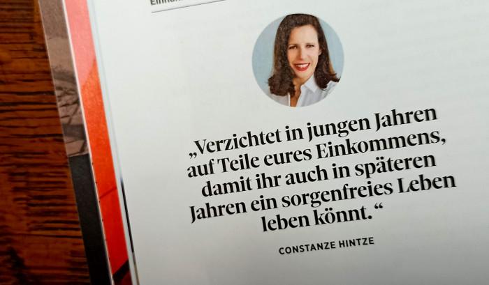 Zitat aus dem Magazin Courage