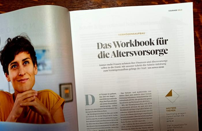 Das Workbook im Magazin Courage