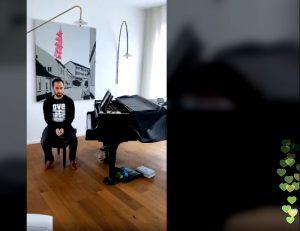 Igor Levit bei einem seiner gestreamten Konzerte am Flügel