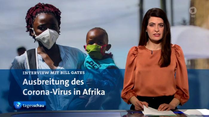 """Linda Zervakis moderiert einen """"Tagesschau""""-Beitrag über Afrika an"""