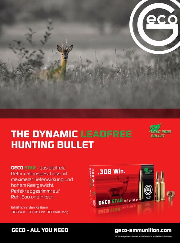 Werbung für Munition in der Wild und Hund