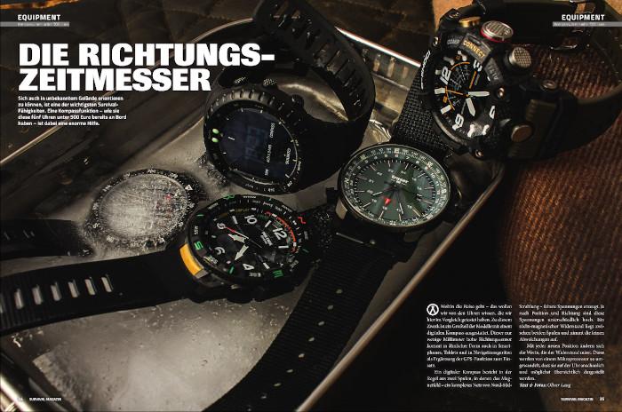 Im Survival Magazin werden Uhren präsentiert