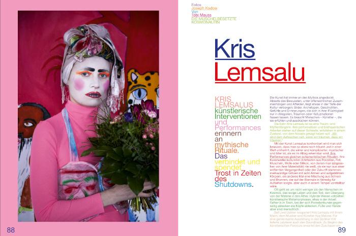 """Kris Lemsalu in dem Magazin """"Fräulein"""""""