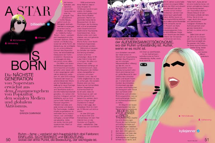 """Doppelseite aus dem Magazin """"Fräulein"""""""