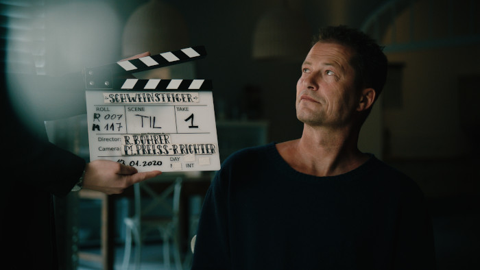 """Produzent Til Schweiger bei den Dreharbeiten zum Film """"Schweinsteiger"""""""