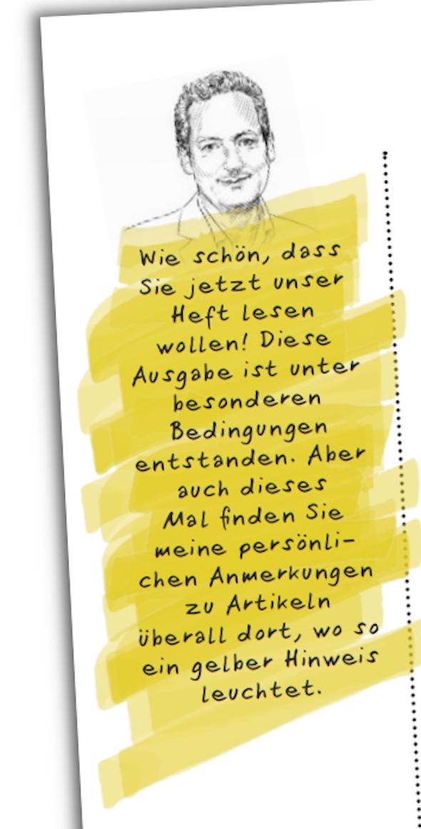 """Eine Anmerkung von Hirschhausen in seinem """"Gesund Leben""""-Magazin"""