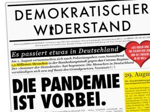 Ausriss aus der Zeitung Demokratischer Widerstand