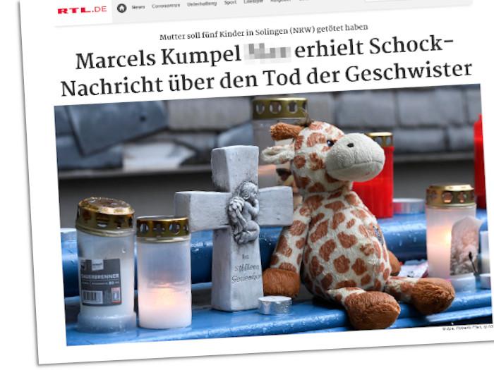 Solingen-Berichterstattung bei RTL