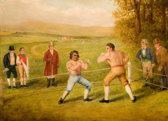 """""""A Birmingham Prize Fight"""" von W Allen aus dem Jahr 1789"""