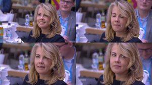 Linda Teuteberg während der Rede von FDP-Chef Christian Lindner beim Bundesparteitag der FDP 2020 in Berlin