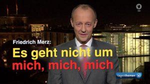 Friedrich Merz in den Tagesthemen