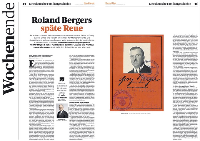 Roland Bergers späte Reue