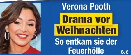 Verona Pooth - Drama vor Weihnachten - So entkam sie der Feuerhölle
