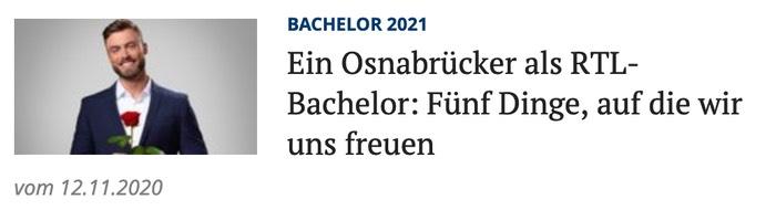 Ein Osnabrücker als Bachelor Fünf Dinge, auf die wir uns freuen