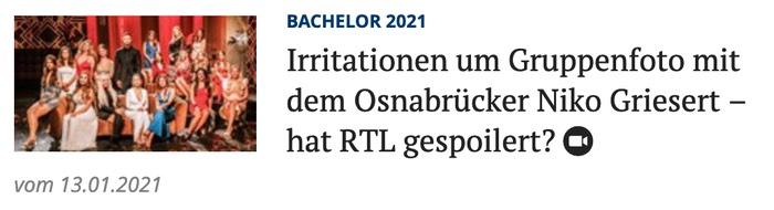 Irritationen um Gruppenfoto mit dem Osnabrücker Niko Griesert - hat RTL gespoilert?