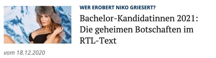 Bachelor-Kandidatinnen: Die geheimen Botschaften im RTL-Text