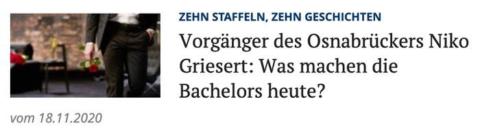 Vorgänger des Osnabrückers Niko Griesert: Was machen die Bachelors heute?