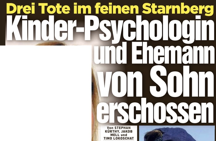 Drei Tote im feinen Starnberg - Kinder-Psychologin und Ehemann von Sohn erschossen