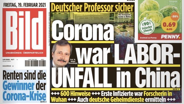 Deutscher Professor sicher / Corona war LABOR-UNFALL in China